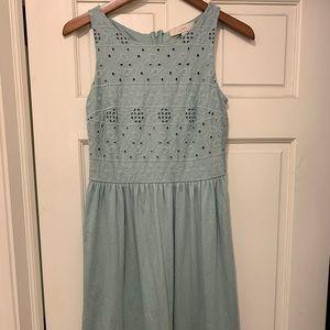 Loft Eyelet Dress. Size 2